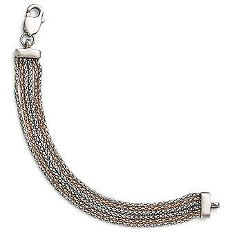 Rostfritt stål polerad Rose Ip-plated 6 Strand armband - 7.75 tum