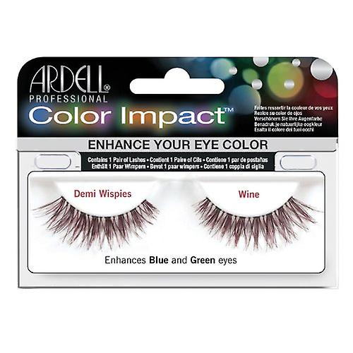 Ardell Color Impact False Lashes - Demi Wispies - Wine