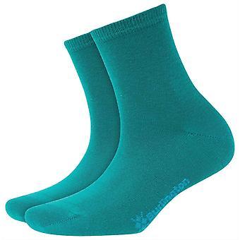 Burlington Lady Short Socks - Turquoise Green