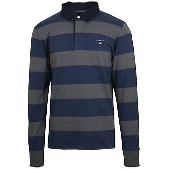 GANT Grey & Blue Heavy Rugger Shirt