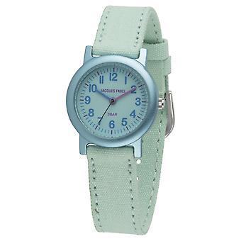 JACQUES FAREL Eco Kids horloge analoge Quartz meisje ORG 0309 Mint