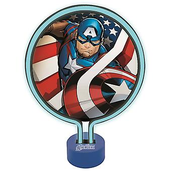 Marvel Avengers Captain America neon licht