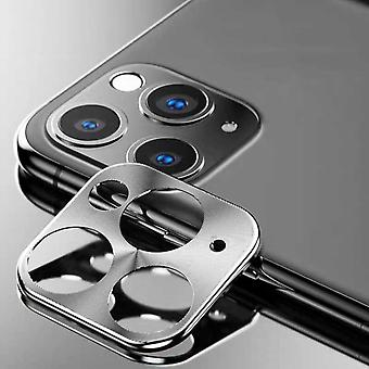 iPhone 11 Pro - 11 Pro Max Case Silver Camera Lens Protector - Metal