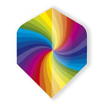 Unicorn Darts Core .75 Micron Plus Flights Metallic Holgram Range - Rainbow Swirl