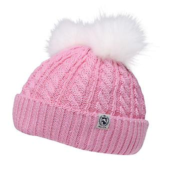 Requisite Kids Childrens 2 Pompoms Knitted Winter Bobble Hat