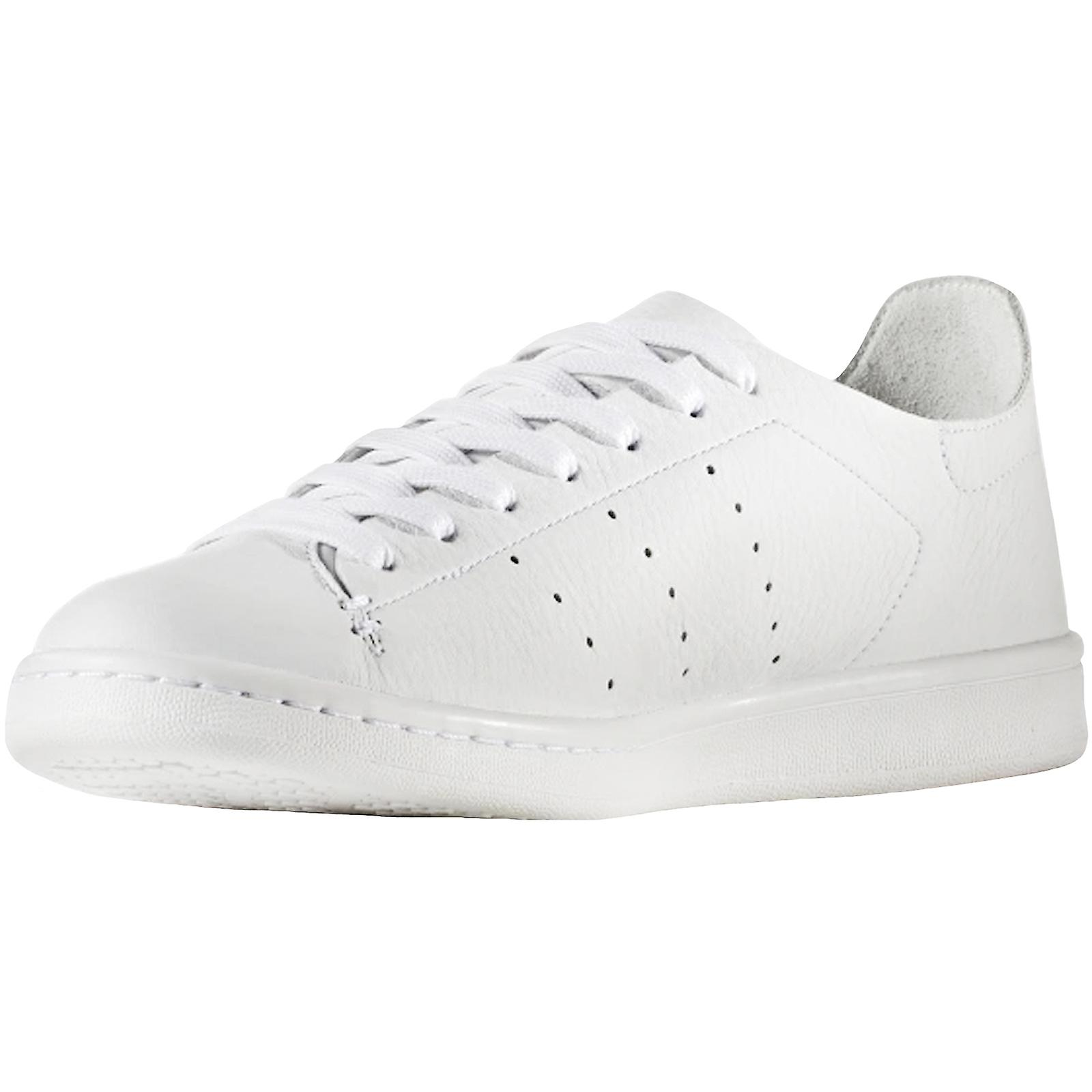 adidas Originals Mens Stan Smith Cuir Sock Casual Trainers Sneakers - Blanc