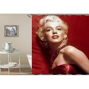 Marilyn Monroe damen i rødt bruse gardin
