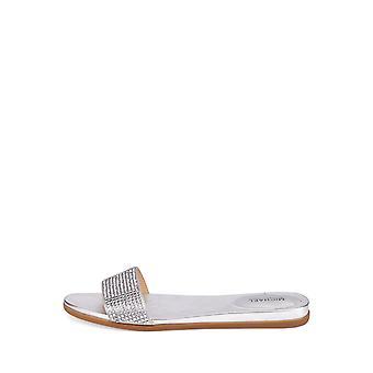 Michael Michael Kors Eleanor verfraaid dia sandalen zilver maat 5M