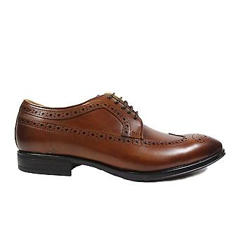 Steptronic Francis Tan Leather Mens Smart Lace Up Brogue Shoes