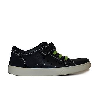 Superfit 00018-80 Navy Leather Boys Rip Tape/Bungee Lace Trainers