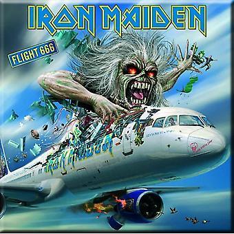 Iron Maiden frigo Magnet Flight 666 bande logo nouveau officiel 76 x 76 mm