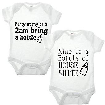 Party Double Pack babygrow