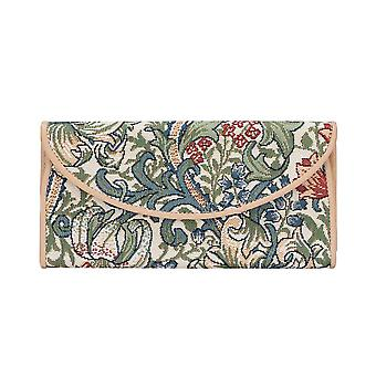William morris - golden lily money purse by signare tapestry / enve-glily