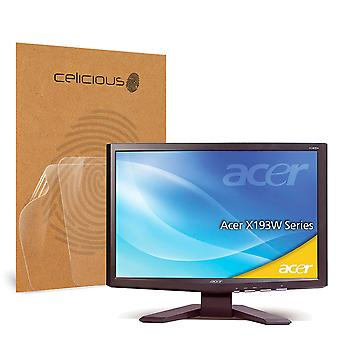 Celicious Vivid Invisible Glossy HD Screen Protector Film Compatible with Acer X193W [Pack of 2]