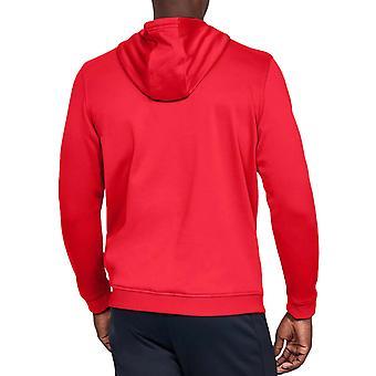 Under Armour UA Mens Armour Fleece Big Logo Pullover Hoody Jumper Hoodie - Red