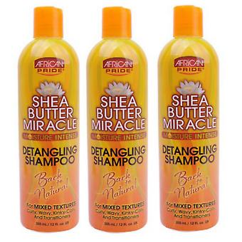 African Pride Shea Butter Miracle Shampoo 355ml (3-Pack)
