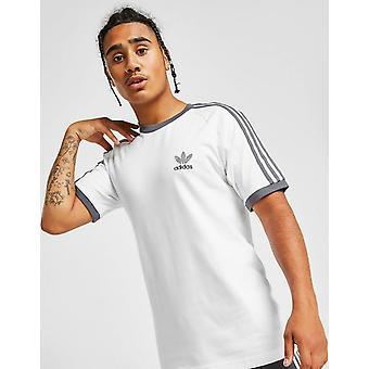 New adidas Originals Men's 3-Stripes California Short Sleeve T-Shirt White