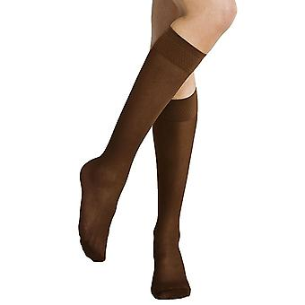 Solidea Mlle Relax Micro Rete 70 Support Socks Sheer [Style 41770] Bronze (Brown) S