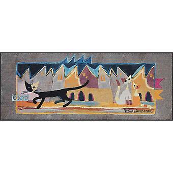 Rosina Watchmaster deurmat wasbaar door Salonloewe Bruscolino 75 x 190 cm