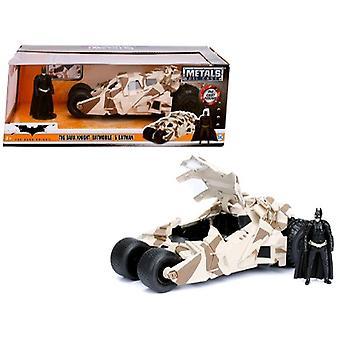 The Dark Knight Batmobile With Batman Diecast Figure Camouflage Version Dc Comics Series 1/24 Diecast Model Car Par Jada