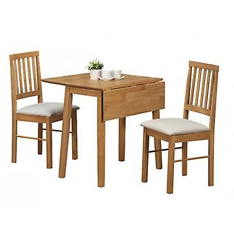 Drop Leaf Dining Set Eiche Finish