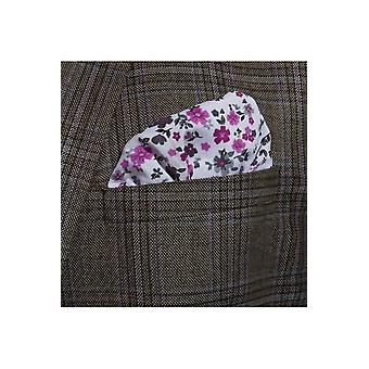 JSS Purple Floral Cotton Pocket Square