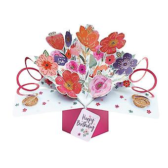 Second Nature Pop Up Mixed Flowers 3d Birthday Card Pop179