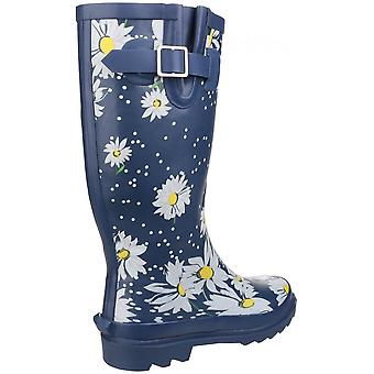 Cotswold Burghley Waterproof Pull On Wellington Boot Daisy