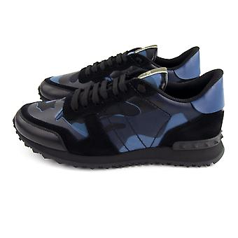 Valentino Camouflage Rockrunner Sneaker Bluette GS5