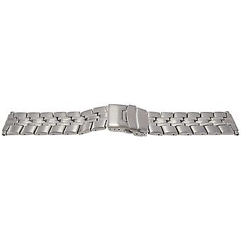 Rowi stainless steel watch bracelet with centre fold safety clasp 16mm to 22mm