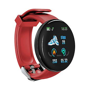 Recheada® Original D18 Smartwatch Curved HD Smartphone Sport Sport Activity Tracker Watch iOS Android iPhone Samsung Huawei Red