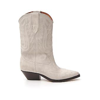 Isabel Marant 20pbo044820p024s20wh Women's White Leather Ankle Boots
