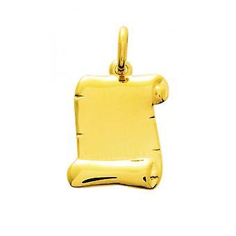 Pendentif  parchemin Or 375/1000 jaune  (9K)