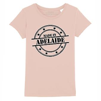 STUFF4 Girl's Round Neck T-Shirt/Made In Adelaide/Coral Pink