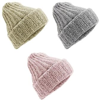 Ladies/Womens Cable Knit Slouchy Winter Beanie Hat