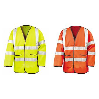 Result Mens High-Visibility Motorway Safety Jacket (EN471 Class 3 Approved) (Pack of 2)
