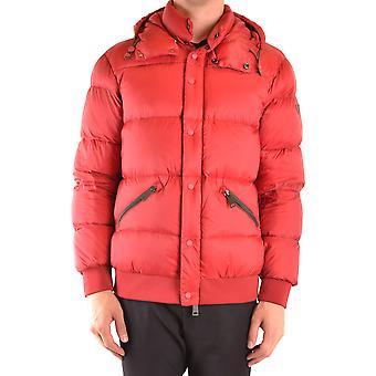 Armani Jeans Ezbc039155 Men's Burgundy Nylon Outerwear Jacket