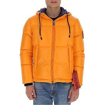 After Label Al021350 Men's Orange Polyester Down Jacket