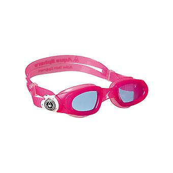 Aqua Sphere Moby Junior Kid Swim Goggles- Blue Lens- Pink Frame