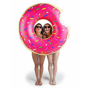 Bigmouth Inflatable Floating Lounge Badring Doughnut Donut PINK 120cm