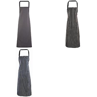 Premier Ladies/Womens Stripe Apron / Workwear (Butchers Style) (Pack of 2)