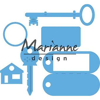 Марианна Дизайн Creatables Резка умирает - Ключевое кольцо LR0523 95x88 мм