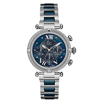 GC Y16019L7MF Women's Blue Ceramic Cable Chic Wristwatch