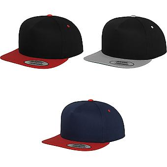 Flexfit by Yupoong Unisex Classic 5 Panel Two Tone Snapback Cap