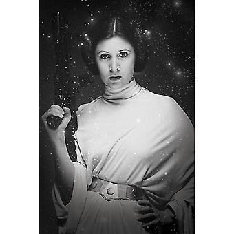 מלחמת הכוכבים הנסיכה ליאה כוכב מקסי פוסטר