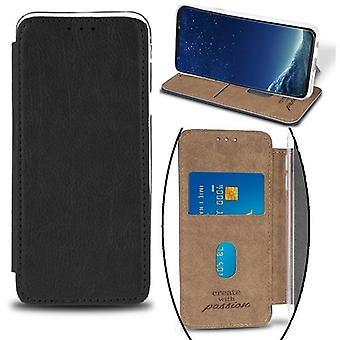 Huawei mate 20 lite topp kvalitet Mobil lommebok-svart