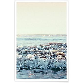 IMPRESSION JUNIQE - Océan Pacifique - Oceans, Seas and Lakes Poster in Colorful