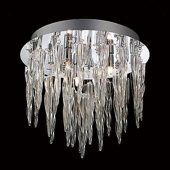 Tropez Ceiling 3 Light With Rgb Leds And Remote Control Polished Chrome/glass