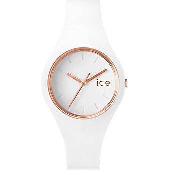 الجليد ووتش ساعة يد للجنسين ICE غلم الأبيض روز الذهب الصغيرة 000977