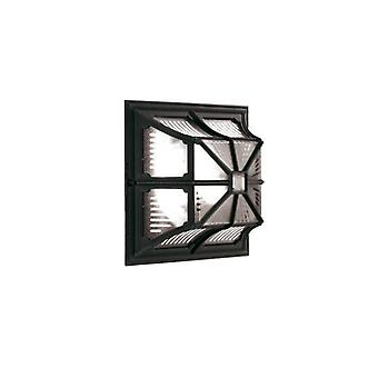 Chapel Ceiling Lamp, Black Aluminum And Glass